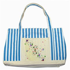 Star Structure Many Repetition Striped Blue Tote Bag