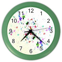 Star Structure Many Repetition Color Wall Clocks