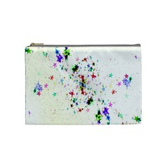 Star Structure Many Repetition Cosmetic Bag (medium)