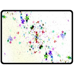 Star Structure Many Repetition Fleece Blanket (large)