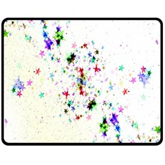 Star Structure Many Repetition Fleece Blanket (medium)