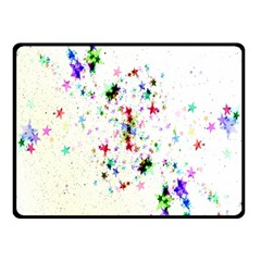 Star Structure Many Repetition Fleece Blanket (small)