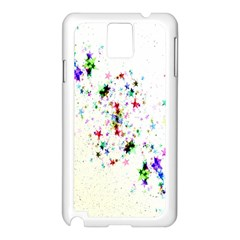 Star Structure Many Repetition Samsung Galaxy Note 3 N9005 Case (white)