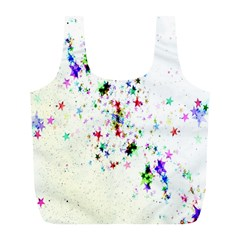 Star Structure Many Repetition Full Print Recycle Bags (l)