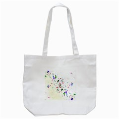 Star Structure Many Repetition Tote Bag (white)
