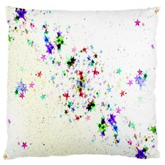 Star Structure Many Repetition Large Flano Cushion Case (one Side)