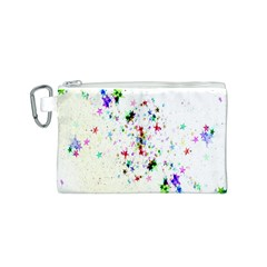 Star Structure Many Repetition Canvas Cosmetic Bag (s)