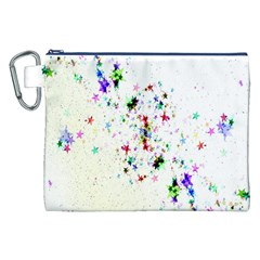 Star Structure Many Repetition Canvas Cosmetic Bag (xxl)