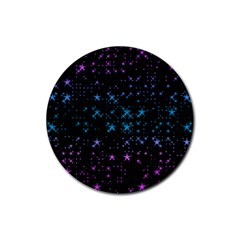 Stars Pattern Seamless Design Rubber Round Coaster (4 Pack)