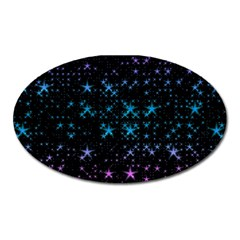 Stars Pattern Seamless Design Oval Magnet