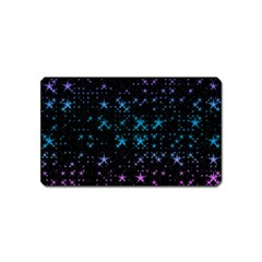 Stars Pattern Seamless Design Magnet (name Card)
