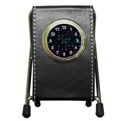 Stars Pattern Seamless Design Pen Holder Desk Clocks