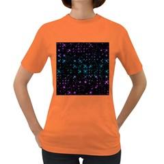 Stars Pattern Seamless Design Women s Dark T-Shirt