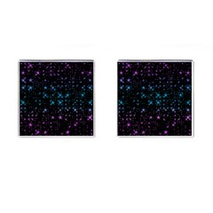 Stars Pattern Seamless Design Cufflinks (square)
