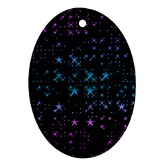 Stars Pattern Seamless Design Oval Ornament (two Sides)