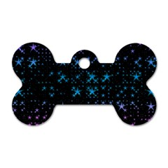 Stars Pattern Seamless Design Dog Tag Bone (two Sides)