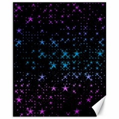 Stars Pattern Seamless Design Canvas 11  X 14