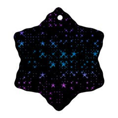 Stars Pattern Seamless Design Ornament (snowflake)