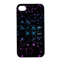 Stars Pattern Seamless Design Apple Iphone 4/4s Hardshell Case With Stand