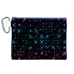 Stars Pattern Seamless Design Canvas Cosmetic Bag (xl)