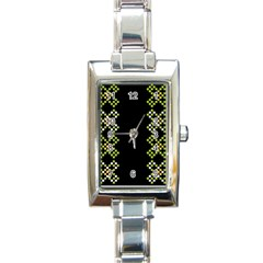 Vintage Pattern Background  Vector Seamless Rectangle Italian Charm Watch
