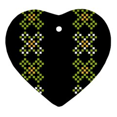Vintage Pattern Background  Vector Seamless Ornament (Heart)