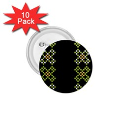 Vintage Pattern Background  Vector Seamless 1 75  Buttons (10 Pack)