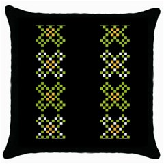 Vintage Pattern Background  Vector Seamless Throw Pillow Case (black)