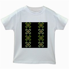 Vintage Pattern Background  Vector Seamless Kids White T Shirts