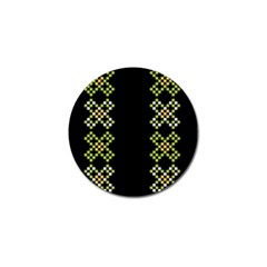 Vintage Pattern Background  Vector Seamless Golf Ball Marker (10 Pack)