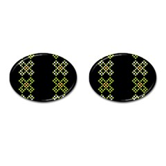 Vintage Pattern Background  Vector Seamless Cufflinks (Oval)