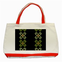 Vintage Pattern Background  Vector Seamless Classic Tote Bag (red)