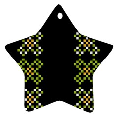 Vintage Pattern Background  Vector Seamless Star Ornament (two Sides)