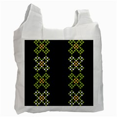 Vintage Pattern Background  Vector Seamless Recycle Bag (one Side)