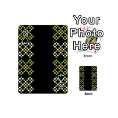 Vintage Pattern Background  Vector Seamless Playing Cards 54 (mini)