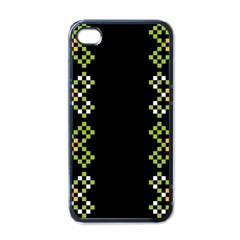 Vintage Pattern Background  Vector Seamless Apple Iphone 4 Case (black)