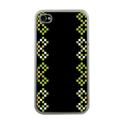Vintage Pattern Background  Vector Seamless Apple Iphone 4 Case (clear)