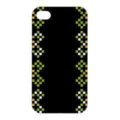 Vintage Pattern Background  Vector Seamless Apple Iphone 4/4s Premium Hardshell Case