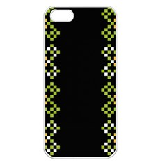 Vintage Pattern Background  Vector Seamless Apple Iphone 5 Seamless Case (white)