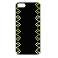Vintage Pattern Background  Vector Seamless Apple Seamless Iphone 5 Case (clear)