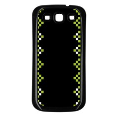 Vintage Pattern Background  Vector Seamless Samsung Galaxy S3 Back Case (black)