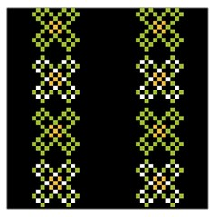 Vintage Pattern Background  Vector Seamless Large Satin Scarf (square)
