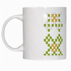 Vintage Pattern Background  Vector Seamless White Mugs