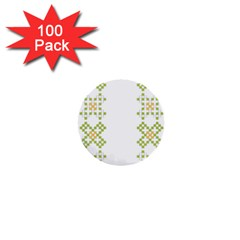 Vintage Pattern Background  Vector Seamless 1  Mini Buttons (100 Pack)