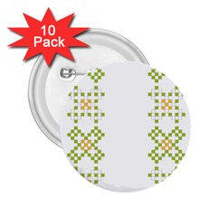 Vintage Pattern Background  Vector Seamless 2 25  Buttons (10 Pack)