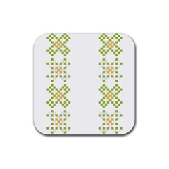 Vintage Pattern Background  Vector Seamless Rubber Square Coaster (4 Pack)