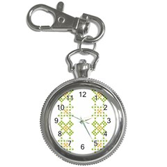 Vintage Pattern Background  Vector Seamless Key Chain Watches