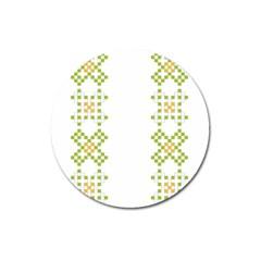 Vintage Pattern Background  Vector Seamless Magnet 3  (round)