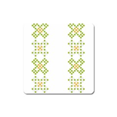 Vintage Pattern Background  Vector Seamless Square Magnet