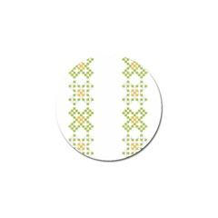 Vintage Pattern Background  Vector Seamless Golf Ball Marker